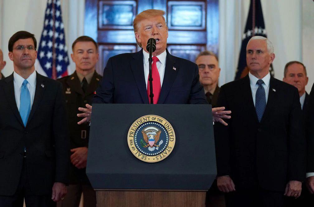 Trump anuncia más sanciones contra Irán pero se aleja de una guerra directa
