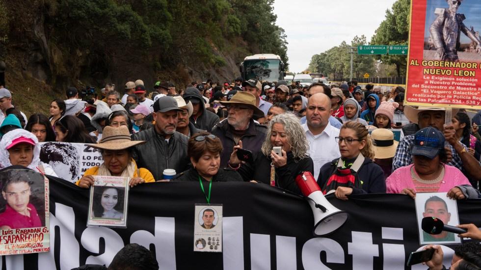 Caminata por la Verdad, la Justicia y la Paz arriba a la Ciudad de México