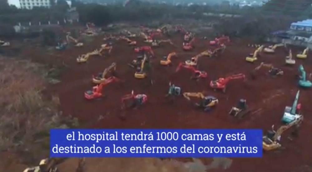 china construye hospital para enfermos de coronavirus