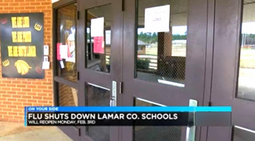 cierran escuelas en el condado de Lamar