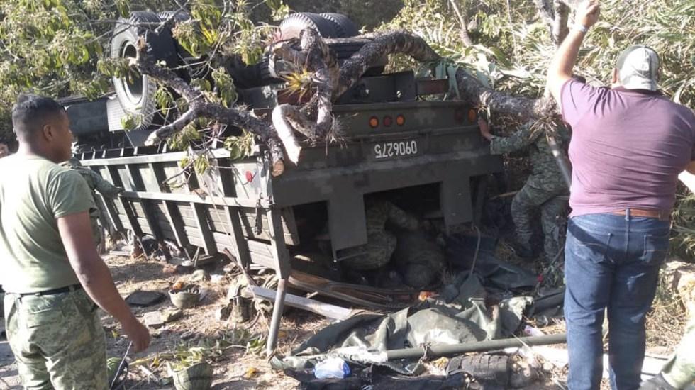 guardia nacional oaxaca accidente volcadura
