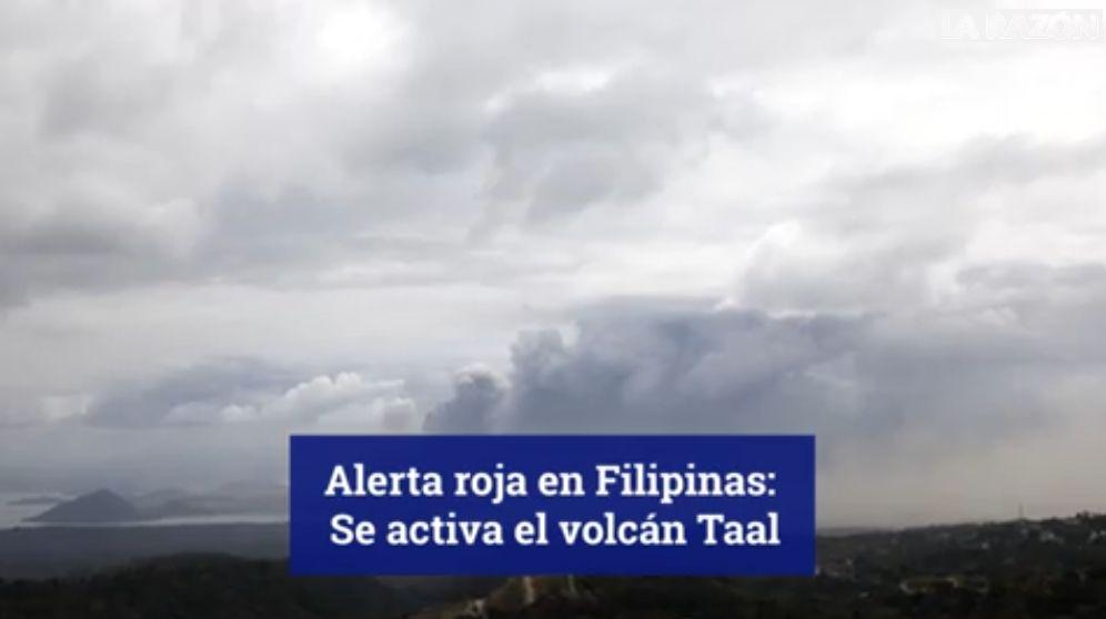 El volcán Taal de Filipinas entra en erupción y deja 24.500 evacuados