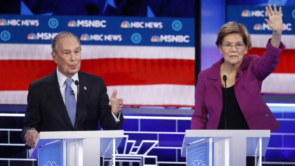 Los demócratas arremeten contra Michael Bloomberg en televisión para cerrarle el paso en las primarias