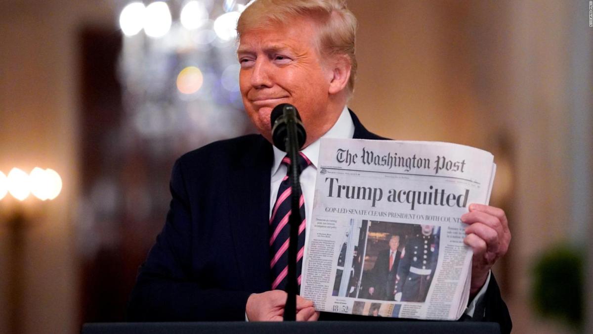 Trump sale airoso y revitalizado de su juicio mira otros cuatro años
