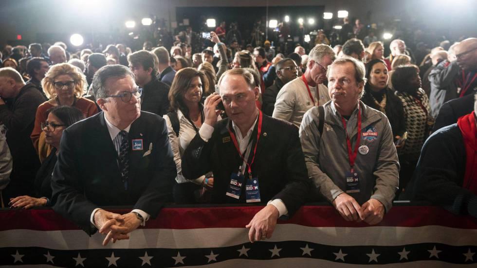 votantes democratas en Iowa