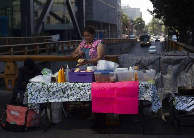 comida callejera en ciudad de