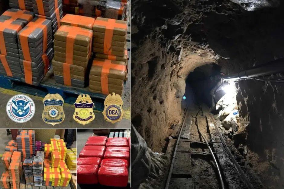 Hallan narcotúnel con miles de kilos de droga en la frontera de Tijuana con San Diego
