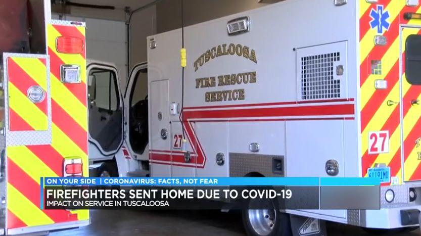 Segundo bombero de Tuscaloosa da positivo por coronavirus; 26 bomberos con licencia pagada