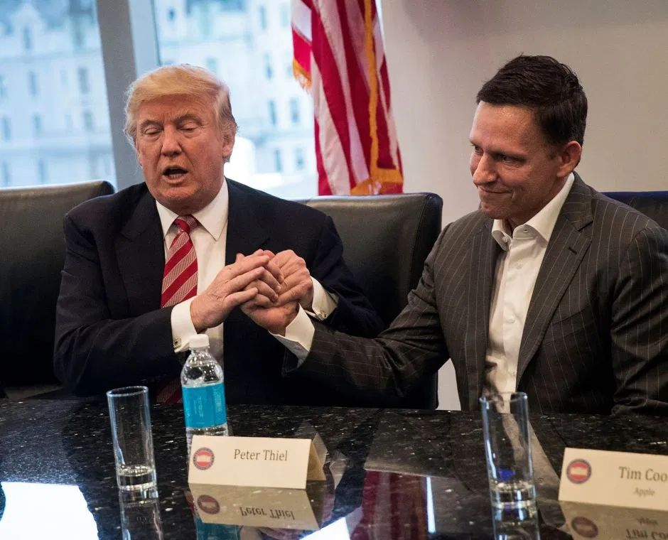 Peter Thiel y Donald Trump