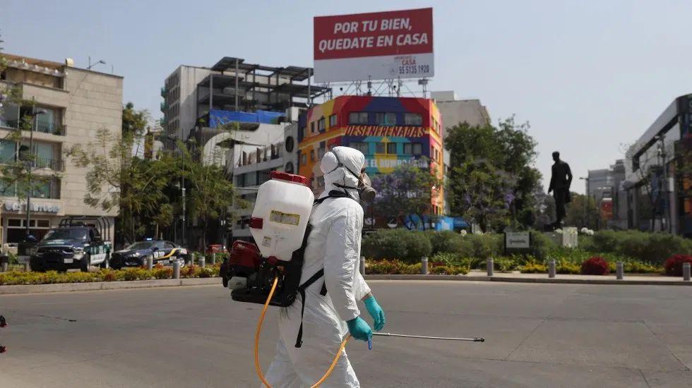 ciudad de mexico covonavirus covid 19 limpieza desinfectante