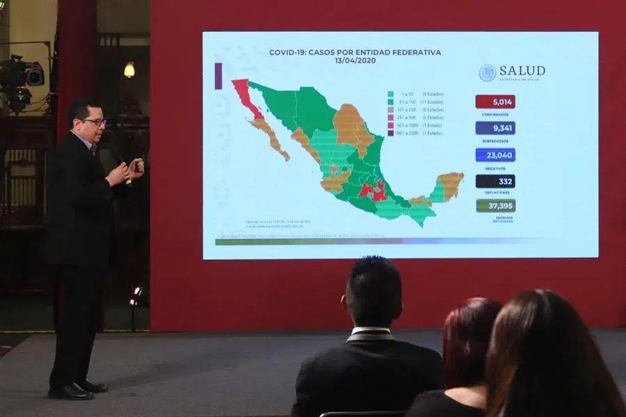 Ascienden a 332 los muertos por coronavirus en México