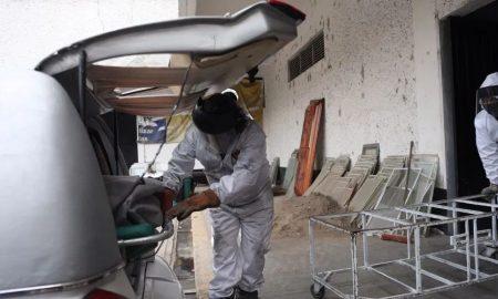 cuerpo llegando a horno crematorio en la ciudad de mexico