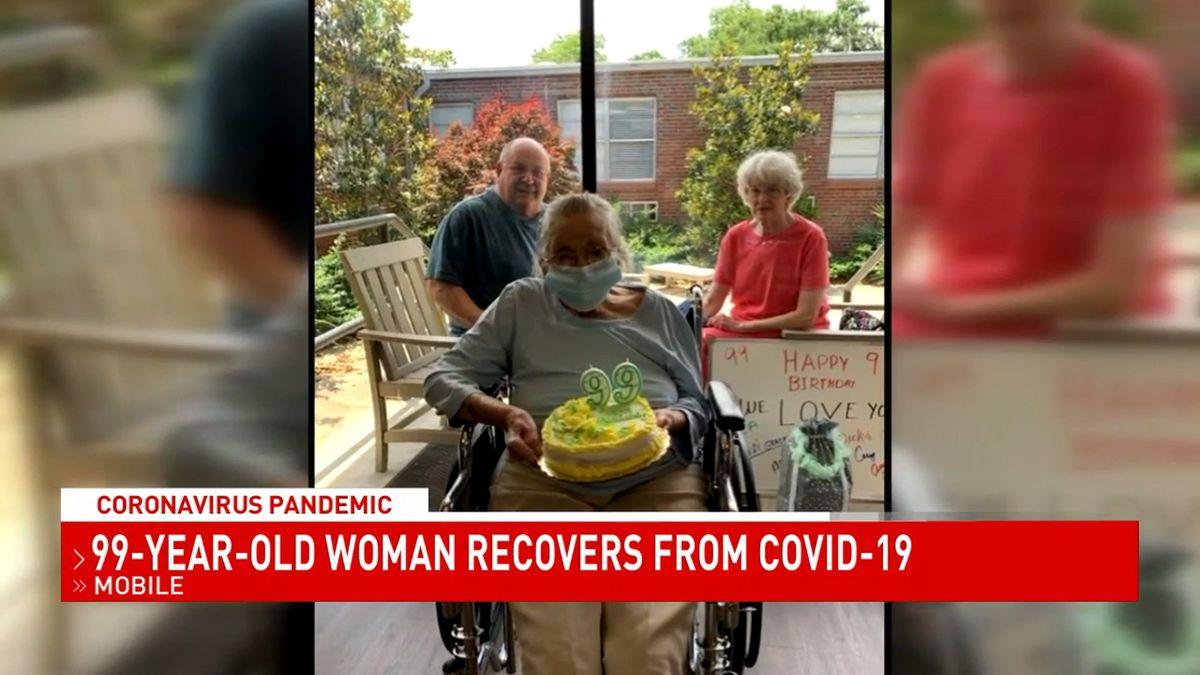 mujer cumple 99 y se cura de covid 19