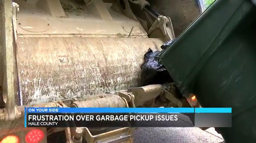 recoleccion de basura condado de Hale