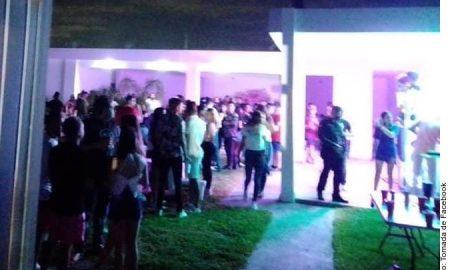 Arrestan a 152 jovenes en fiesta