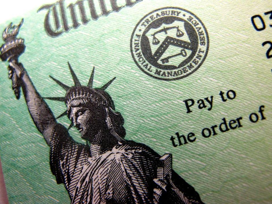 cheque del departamento del tesoro