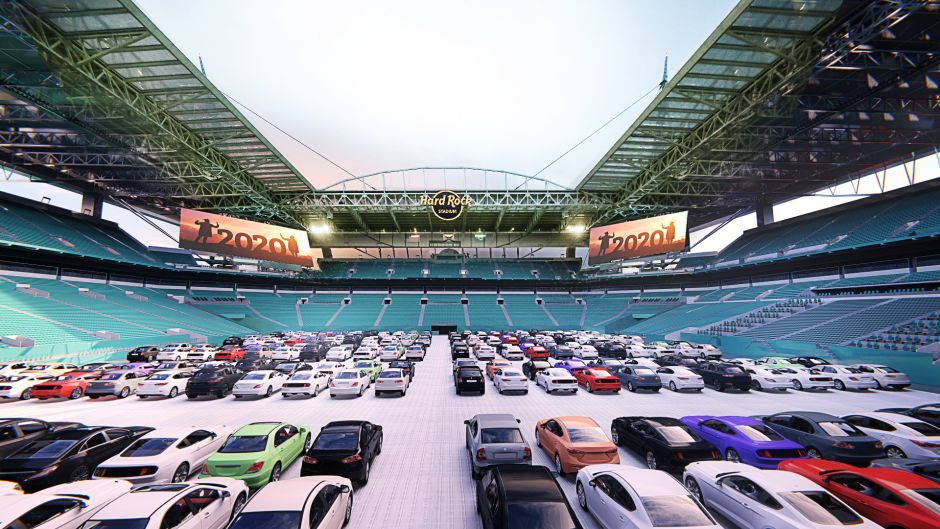 5 Drive In Inside Stadium