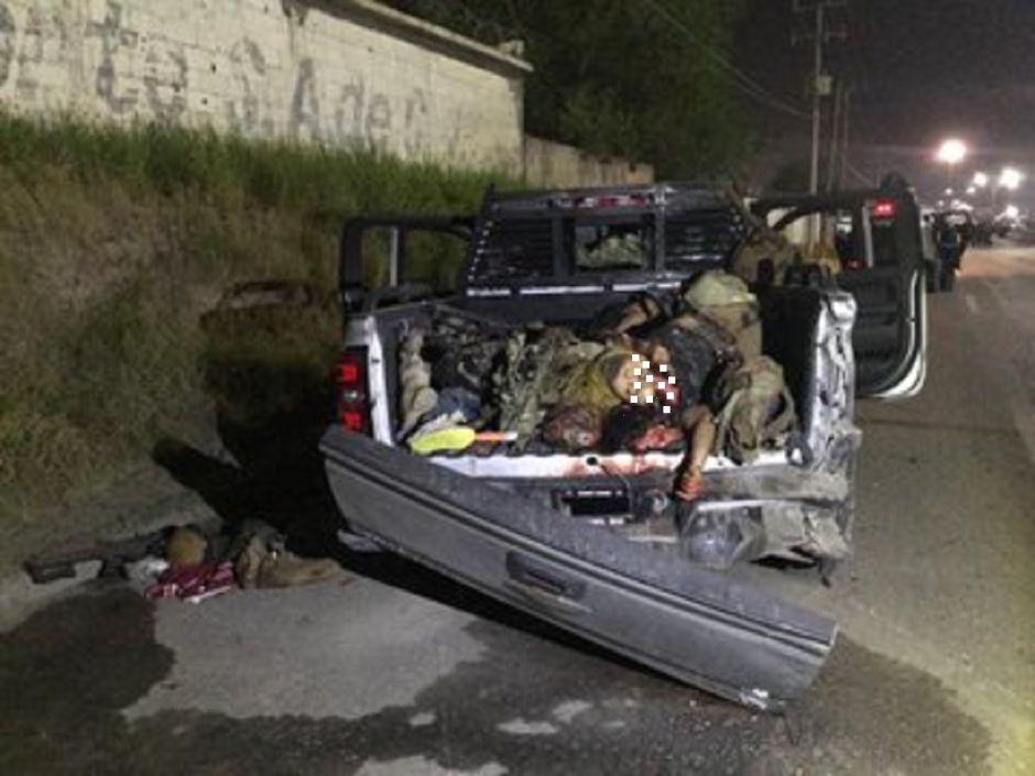 Así quedaron 12 sicarios de Tropa del Infierno tras atacar a soldados mexicanos