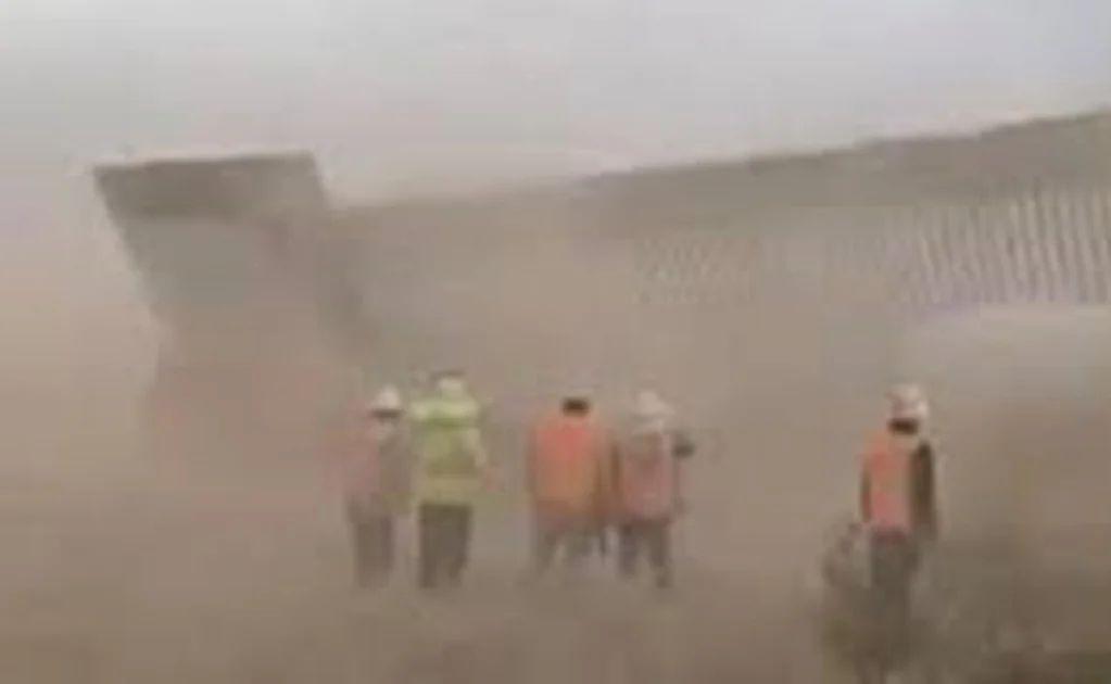 """""""Hanna"""" tira un tramo del muro fronterizo entre EU y México"""