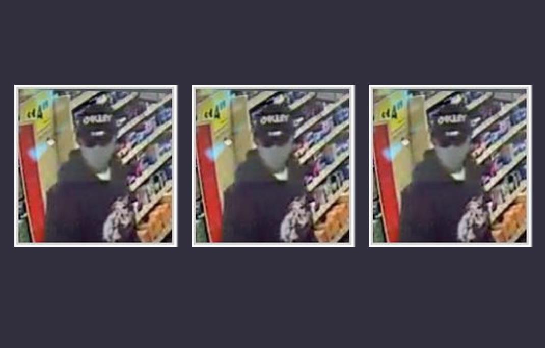 La policía necesita ayuda, para identificar a un sospechoso en un intento de robo