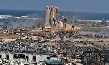 Escombros Explosion Beirut
