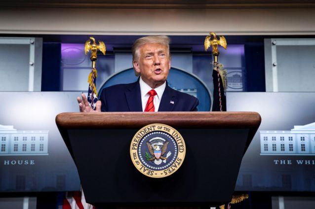 Trump conferencia casa blanca
