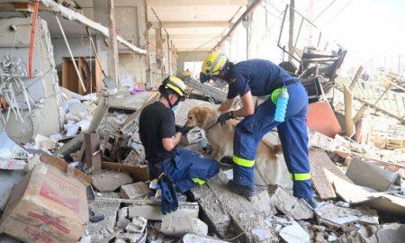 beirut explosion trabajos de rescate