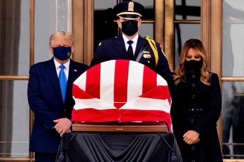 Trump en exequias jueza Ruth