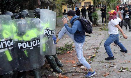 disturbios en Bogota