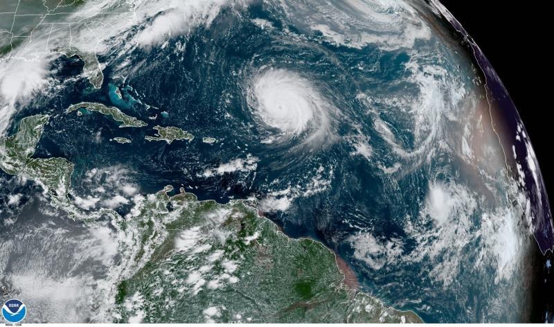 localizacion huracan Teddy