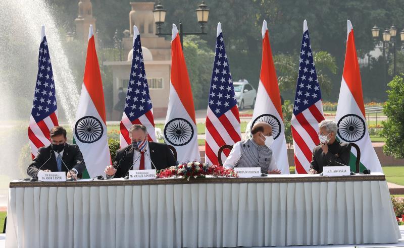Las tensiones con China impulsan la alianza militar entre EEUU y la India