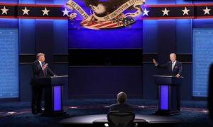 Trump y Biden, en un nuevo debate con micrófonos silenciados, a ratos