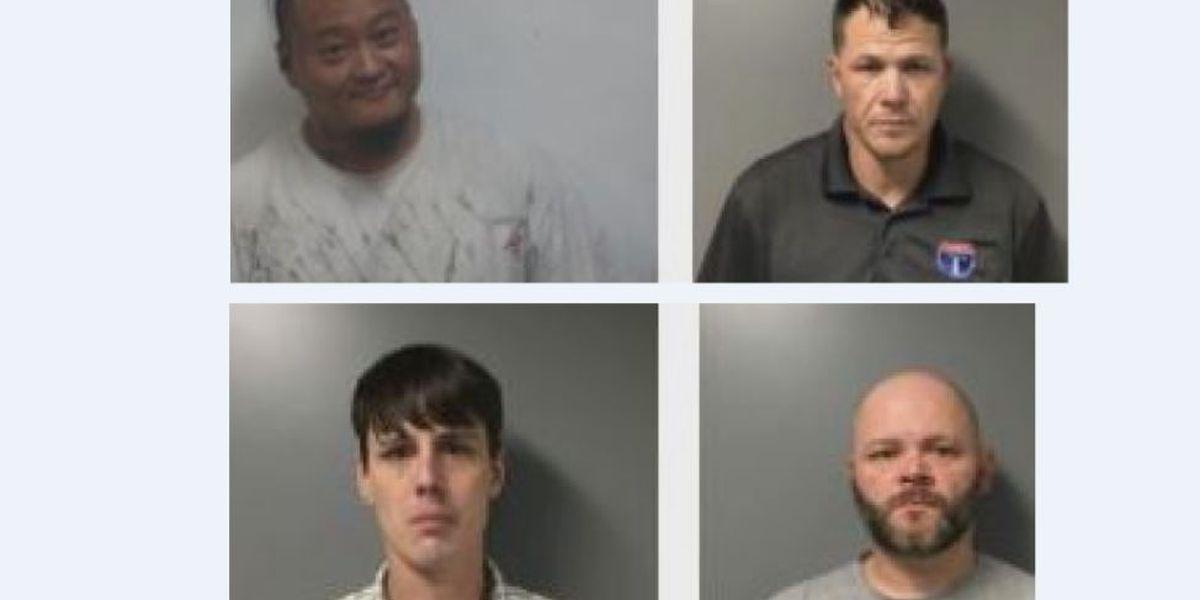 4 hombres arrestados por tráfico de metanfetamina, en el condado de St. Clair