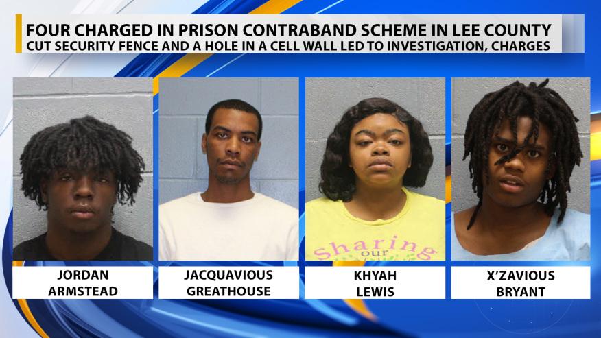 Cuatro acusados por esquema de contrabando en prisión