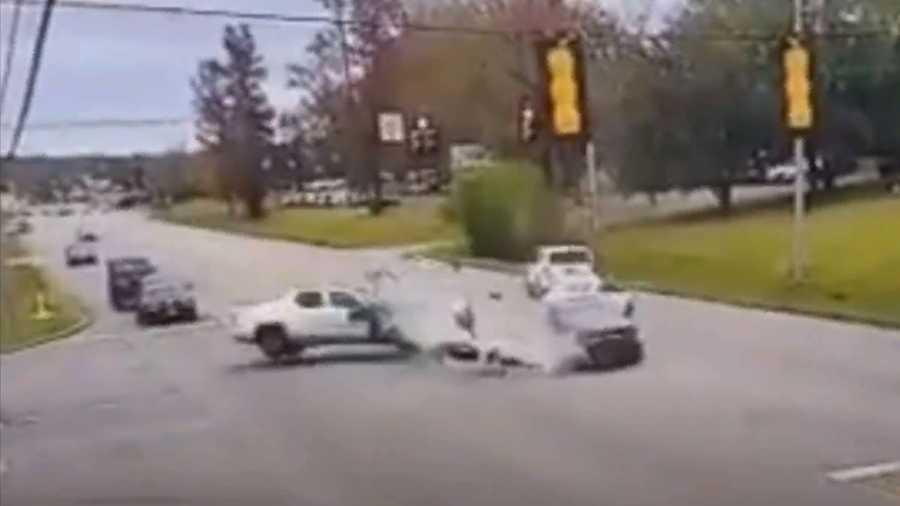 accidente multiple de vehiculos