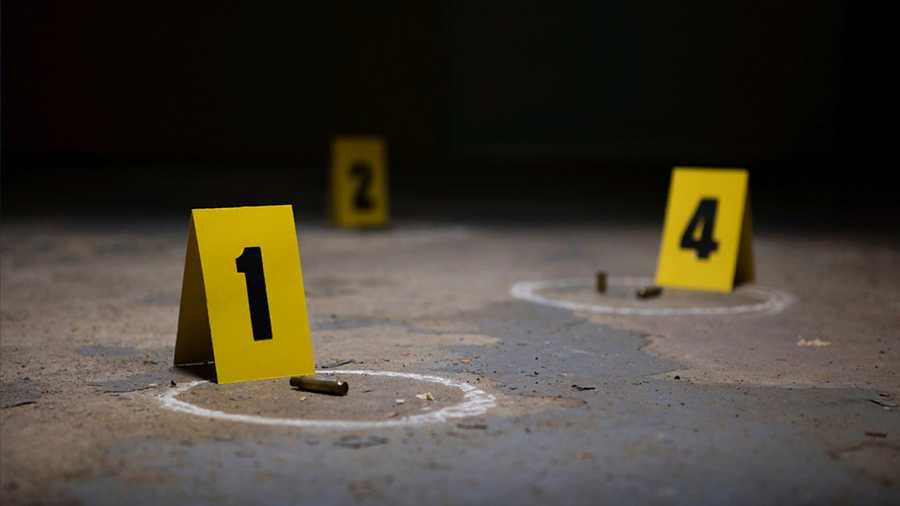 shooting scene bullets evidence markers