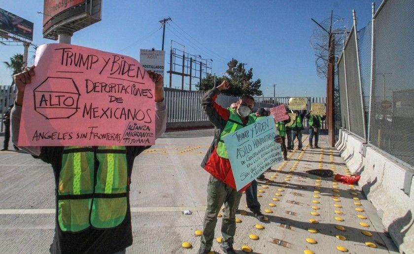 Migrantes en la frontera mexicana de Tijuana piden a Biden cumplir su promesa
