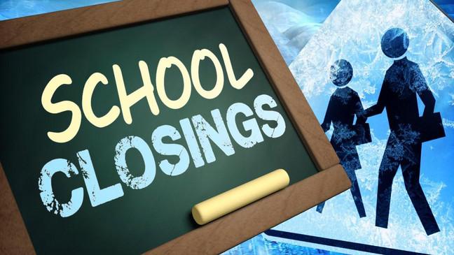 Cierres de escuelas y retrasos debido al clima