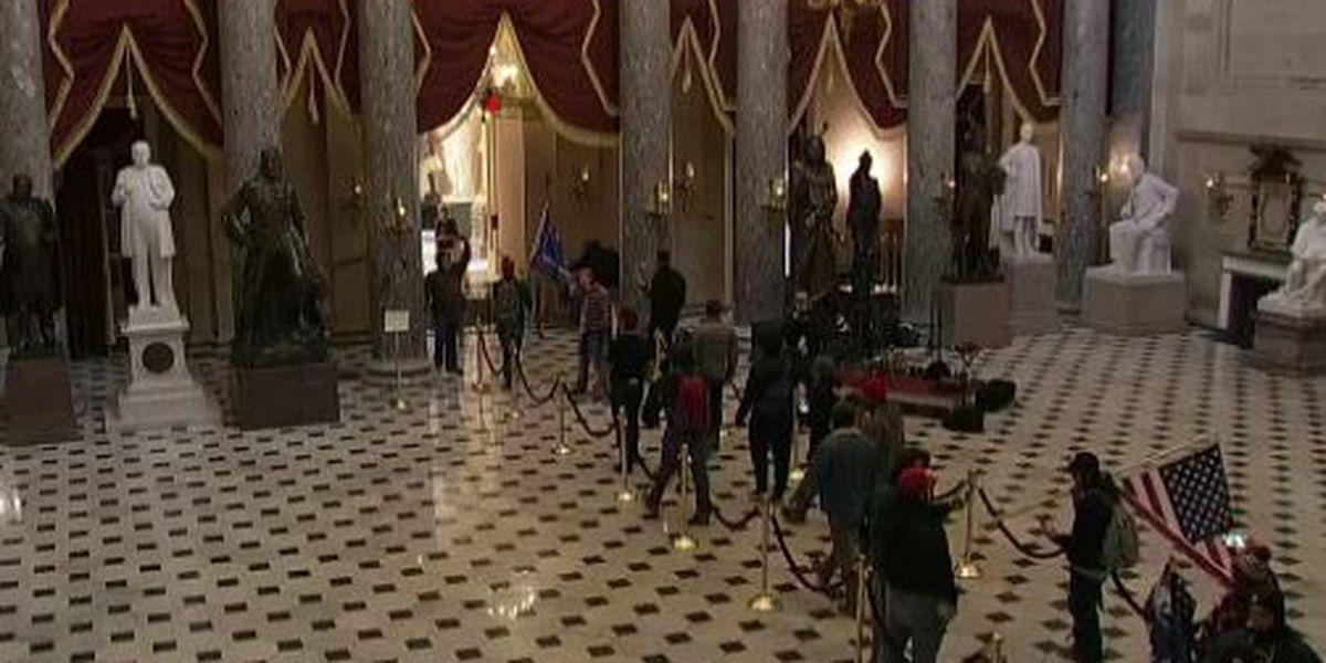 protestas en el interior del capitolio