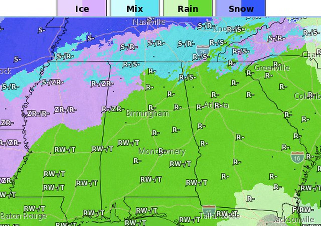 ¡No otra vez! Otra ronda de clima invernal posible el miércoles para partes de Alabama