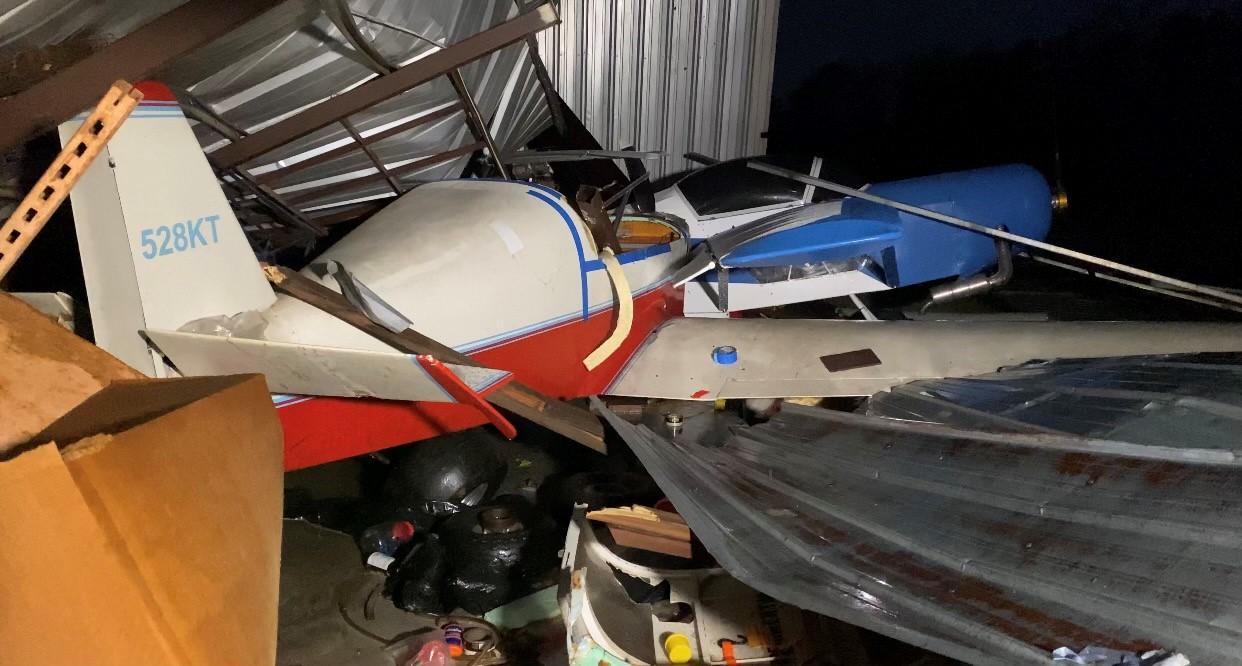 aeropuerto del condado de Bibb gravemente afectado