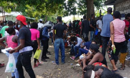 haitianos en Tapachula Mexico
