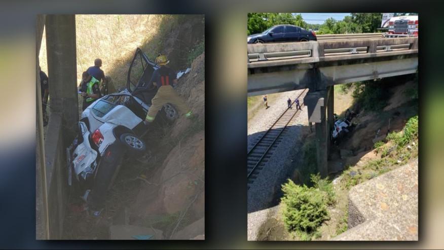 Automóvil se precipita desde el puente Ross Clark Circle hacia la autopista Columbia en Dothan