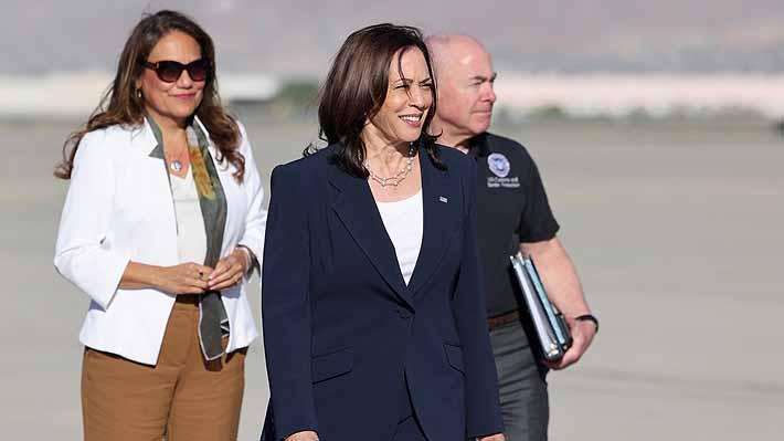 """Harris promete un sistema migratorio """"humano"""" en visita a frontera con México"""