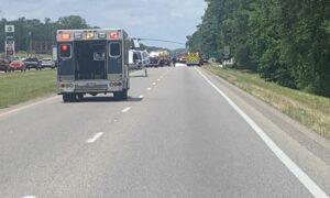 Múltiples muertes después de que chocaran vehículos de 18 ruedas en la autopista 231 en el condado de Montgomery
