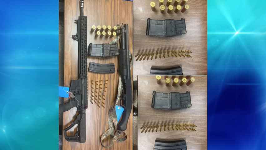 Armas y municiones confiscadas tras situación de violencia doméstica