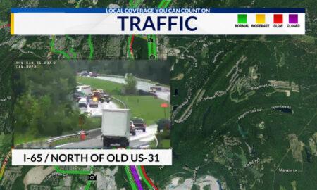 I-65 se cerró después de un derrame de combustible